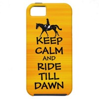 Fun Keep Calm & Ride Till Dawn Horse iPhone 5 Cover from Zazzle.com