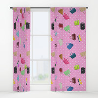 Purses and Handbags Window Curtains by gx9designs