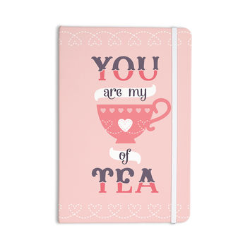 """Daisy Beatrice """"My Cup of Tea"""" Pink Purple Everything Notebook"""