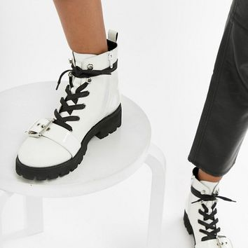Steve Madden Vixie Leather Biker Boot at asos.com