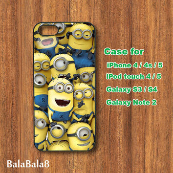 Despicable me - iPhone  4 case, iphone 5 Case, iPod 4 case,  iPod 5 case,  Samsung Galaxy S3, samsung Galaxy S4 case, samsung Galaxy note 2