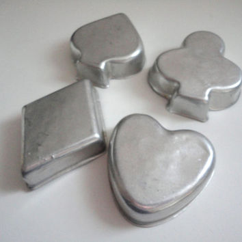 Vintage Playing baking molds or cake molds, cookie molds, jello or ice molds 8 Stars