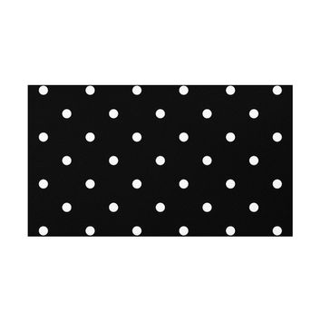 Polka Dots Pattern Rug, 2 Colors Options, Black and White, Area Rug, Vintage Rug, Floor Rugs, Dotted Carpet, Home Decor, Minimal Design Rugs