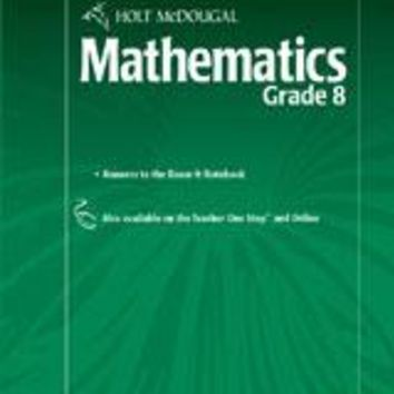 Holt McDougal Mathematics Know-It Notebook Teacher's Guide Grade 8