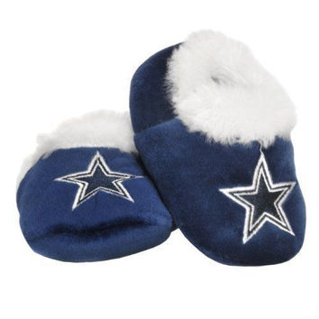 Dallas Cowboys Baby Bootie Slippers Infant Children Kids Baby Shower New