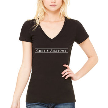 """Grey's Anatomy"" Lines Logo Women's V-Neck T-Shirt"