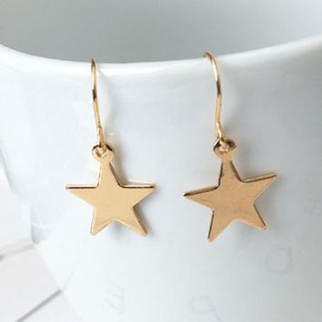 ES151 Bijoux Women Drop Earrings Star Triangle Dangle Brincos Fashion Jewelry pendientes mujer oorbellen Minimalistic