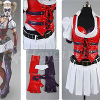 Crazy Batman Harley Quinn Blood Nurse Cosplay Costume