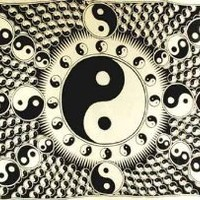 AzureGreen WTYYW 72 in. x 108 in. Yin Yang Tapestry White and Black