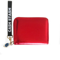 FOLD 'CA$H STASH' RED WALLET