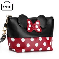 Travel Cosmetic Bag Cartoon Bow Makeup
