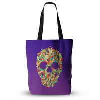 """Roberlan """"Jelly Skull"""" Purple Multicolor Everything Tote Bag"""