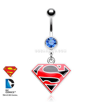 Man of Steel Superman Belly Button Ring
