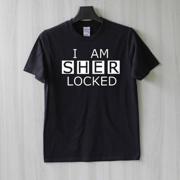 I Am Sherlocked Shirt T Shirt Tee Top TShirt – Size XS S M L XL