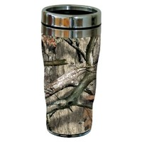 Tree-Free Greetings 77619 Treestand Pattern by Mossy Oak Camo Vintage Art Sip 'N Go Travel tumbler, 16-Ounce, Stainless Steel, Multicolored