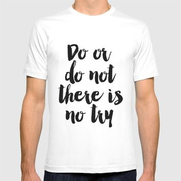 Do Or Do Not There Is No Try - Yoda - Inspirational Quote - Dictionary Print Book Art Print T-shirt by PrintableLifeStyle