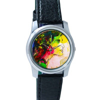 The Lady Abstract Art Sketch Wrist Watch