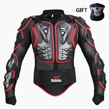Trendy Upbiker Motorcycle armor protective Jackets Body Protection Motocross Knee Elbow Back Protect Pads  Drop Resistant Clothing AT_94_13