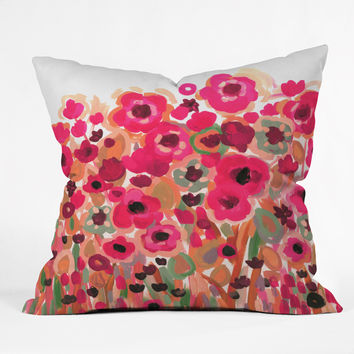 Natasha Wescoat Brightly Blooming Throw Pillow
