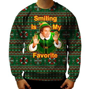 Smiling Is My Favorite Elf Sweatshirt