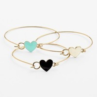 BP. Heart Bangles (Set of 3) | Nordstrom
