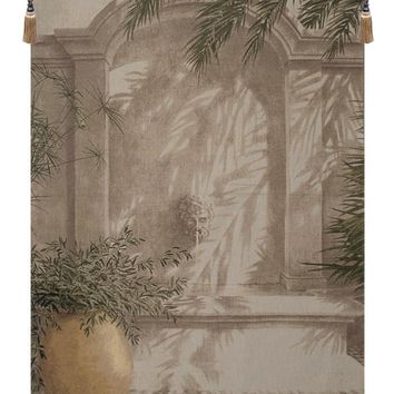 Urn and Fountain  European Tapestry