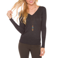 Yadira Sweater - Charcoal