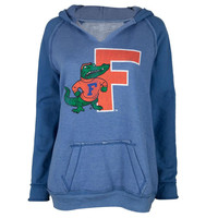 Florida Gators - Giant Letter and Gator Juniors Relaxed Slit-Neck Hoodie