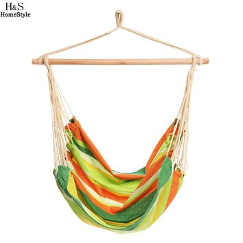Extra-Long Durable Striped Hanging Hammock Chair