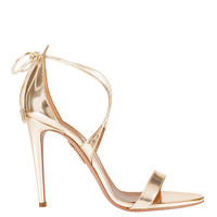 Aquazzura Linda Mirrored Leather Sandal - INTERMIX®