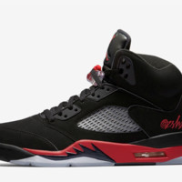 BC HCXX Nike Air Jordan Retro 5 Bred Black University Red 136027-006 SATIN Adult and GS