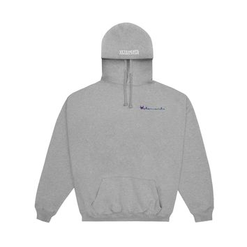 Vetements Men's Oversized Hoodie Sweatshirt (Grey)