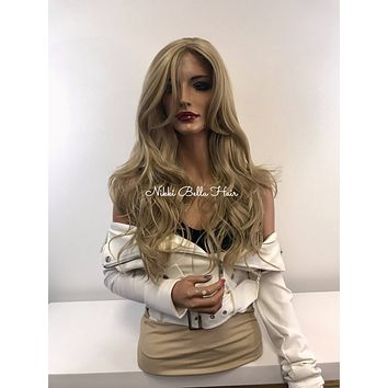 Blonde Balayage Skin Top Lace Front Wig - Blonde Luxe