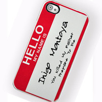 iPhone Case Hello My Name is iPhone Hard Case by TheCuriousCaseLLC