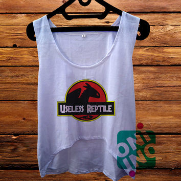 Useless Reptile Crop Tank Women's Cropped Tank Top