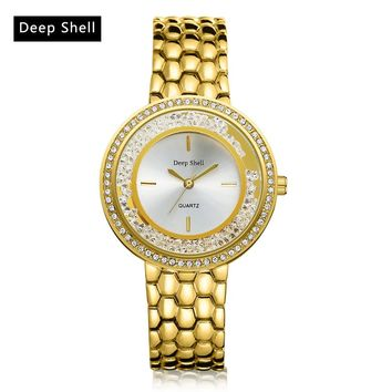 Bracelet Gold Bracelet Crystal Diamond Gold Watch