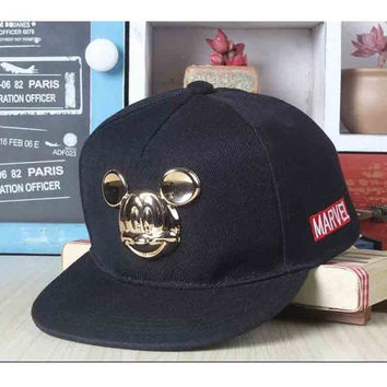 2015 cartoon cute Mickey baseball cap big ear Mouse Snapback Hats brand Hip-hop cap Bone baseball cap kids for 5-8 years old