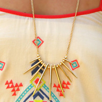 Page 6 Boutique - Spikes A Lot Necklace