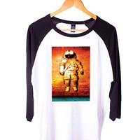 Brand New Deja Entendu Short Sleeve Raglan - White Red - White Blue - White Black XS, S, M, L, XL, AND 2XL*AD*