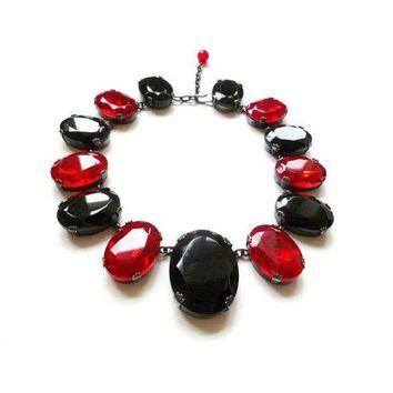 Pre-owned Yves Saint Laurent Necklace Blood Red 1980's YSL