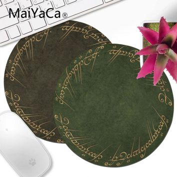 MaiYaCa New Printed Movie The Lord of The Rings Customized Gaming  Round mouse pad Gamer Speed Mice Retail Small Rubber Mousepad