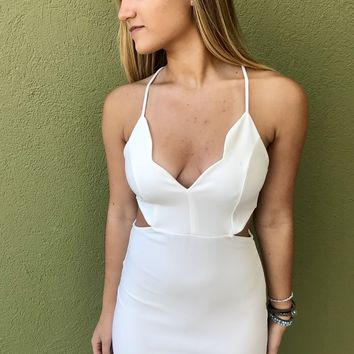 Ends With You Dress- White