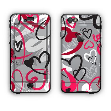 The Vector Love Hearts Collage Apple iPhone 6 Plus LifeProof Nuud Case Skin Set