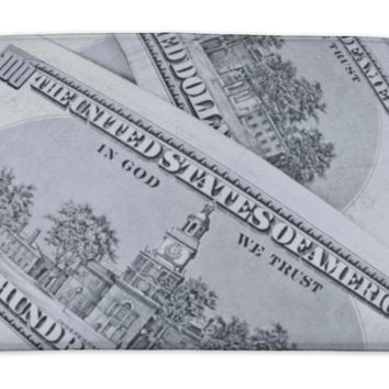 Bath Mat, 100 Dollar Bills