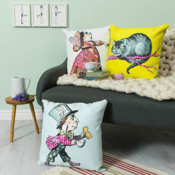 Alice In Wonderland Character Cushion