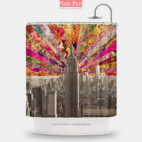 Flowers Superstar New York Shower Curtain Free shipping Home & Living 118