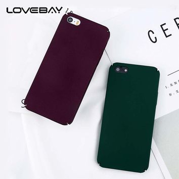 Lovebay Phone Case For Apple iPhone 5 5s SE Fashion Plain Color Matte Hard PC Full Cover For iPhone 5s Phone Case Fundas Shell