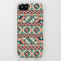Aztec Pattern iPhone & iPod Case by Tami Art