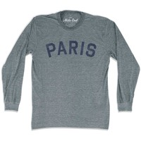 Paris City Vintage Long Sleeve T-Shirt