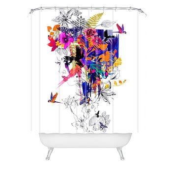 Holly Sharpe Tropical Girl Colourway Shower Curtain